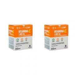 Kit com 2 Caixas de Vitamina C 1000 mg com 30 comprimidos cada caixa