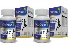 Kit com 2 Caixas Polivitaminico de A-Z VitaSanus 60 Cápsulas