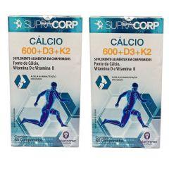 Kit com 2 caixas Calcio 600 + D3 + K2