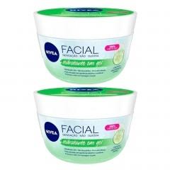 Kit com 2 Hidratantes Nivea Facial Gel Fresh Pepino com Ácido Hialurônico