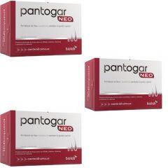 Kit com 3 caixas de Pantogar Neo com 60 cápsulas cada caixa