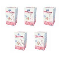 Kit com 5 caixas Materna Polivitamínico para Gestantes com 30 comprimidos cada