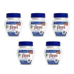 Kit com 5 potes Adoçante Finn, pote com 150 gramas