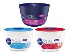 Kit Cremes Nivea Facial Nutritivo, Antissinais e Noturno