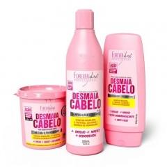 Kit Forever Liss Desmaia Cabelo - Shampoo, Condicionador e Máscara