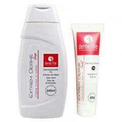 Kit Hidratante Corporal e Facial Extrem Derme DermaFine