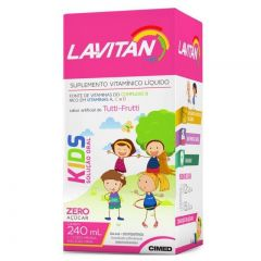 Lavitan Kids Solução Oral Sabor de Tutti -Frutti com 240ml Cimed