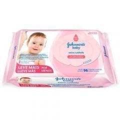 Lenço Umedecido Johnson's Baby Extra Cuidado 96 Unidades