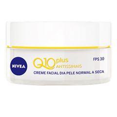 Nivea Q10 Antissinais Creme Facial Dia FPS-30 Pele Normal a Seca 50g