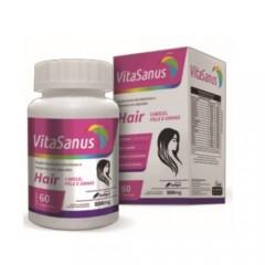 Polivitamínico para Cabelos, pele e unhas VitaSanus Hair com 60 cápsulas