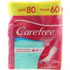 Protetor Diário Carefree Flex Sem Perfume Leve 80 e pague 60