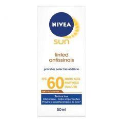 Protetor Solar Nivea Sun Toque Seco Antissinais - FPS 60, 50mL