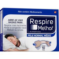 Respire Melhor Pele Normal 10 Unidades Tamanho Médio