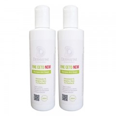 Shampoo Anti-Caspa Fine Ceto DermaFine 250mL - Kit com 2 Unidades