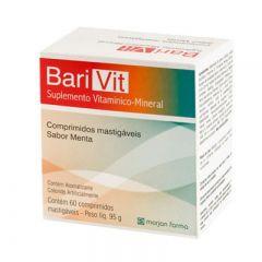 Suplemento Barivit - Menta, 60 Comprimidos Mastigáveis