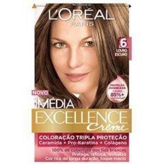 Tintura Imédia Excellence Creme 6 Louro Escuro L'Oréal