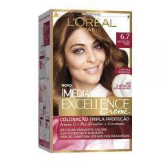 Tintura Imédia Excellence Creme L'Oréal - Nº 6.7 Chocolate Puro