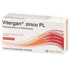 Vitergan Zinco PL com 30 Comprimidos Revestidos Marjan