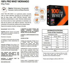 Voxx 100% Pro Whey Protein Sabor Morango com 900g