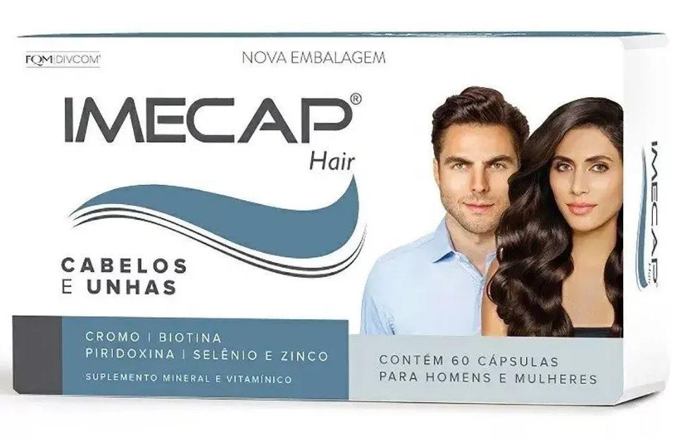Complexo Vitamínico Para Cabelo Imecap Hair Com 60 Cápsulas