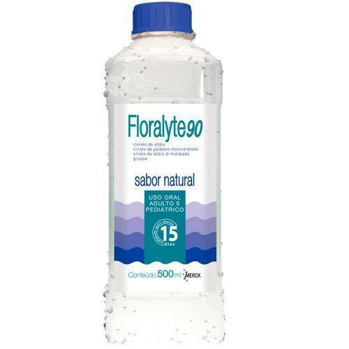 Floralyte 90 Sabor Natural com 500ml Merck