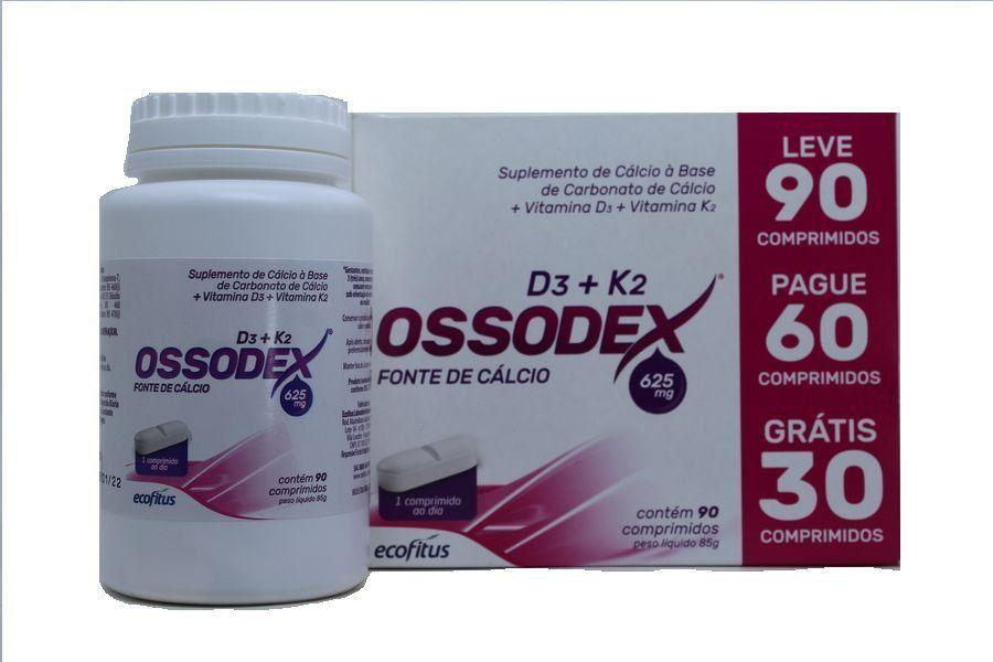 Fonte de Cálcio Ossodex com vitamina D3 e vitamina K2 com 90 comprimidos