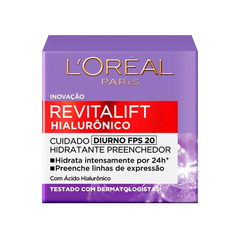 Hidratante Revitalift Hialurônico L'Oreal Paris Diurno FPS 20 49g