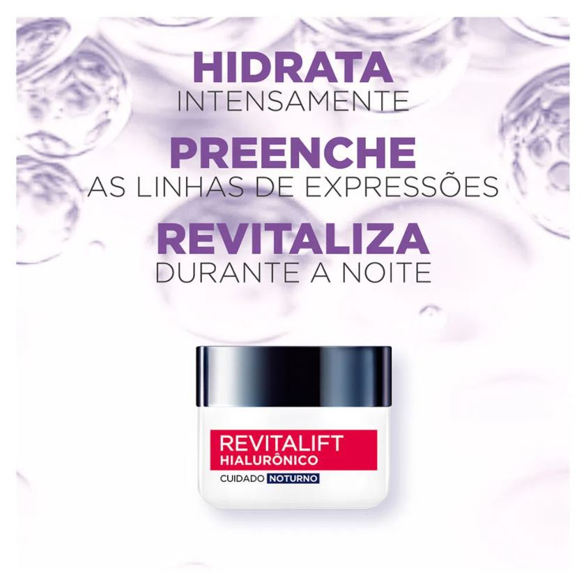 Hidratante Revitalift Hialurônico L'Oreal Paris Noturno 49g