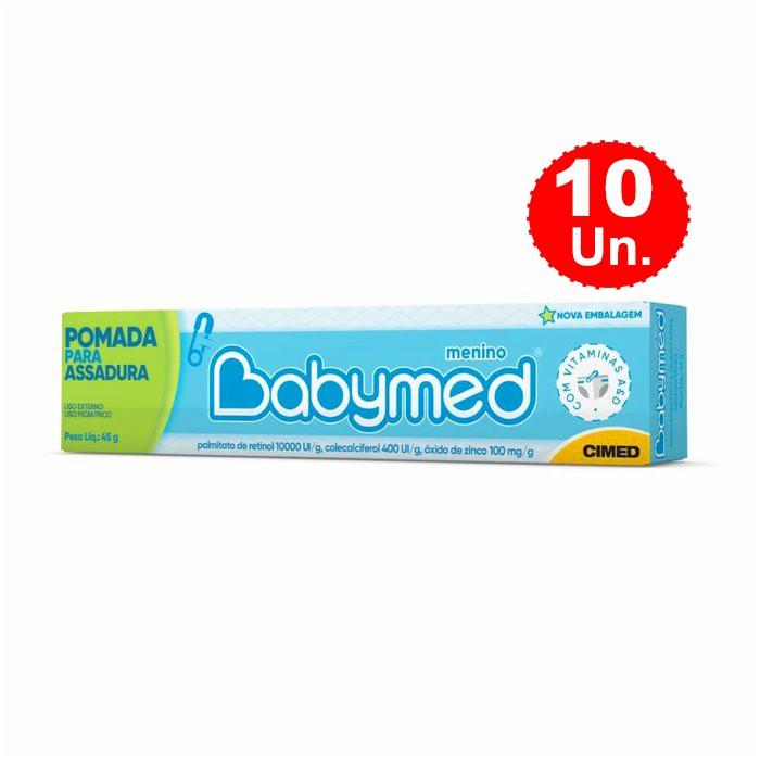Kit 10 Pomada Para Assaduras Babymed Menino Cimed