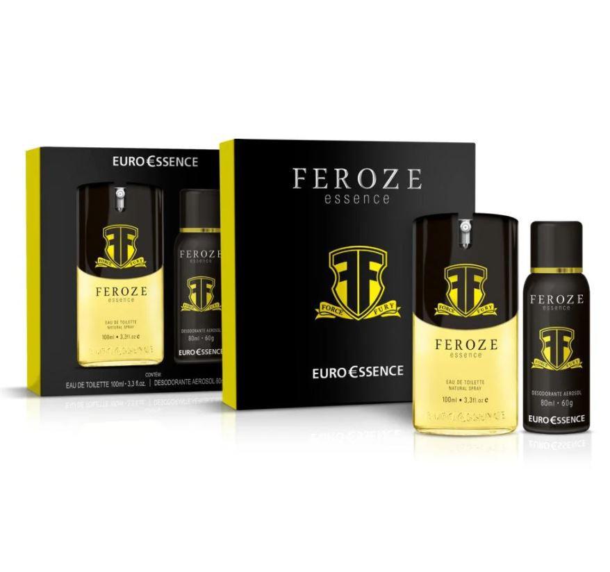 Kit Colônia + Desodorante Euroessence Feroze Essence Eau de Toilette