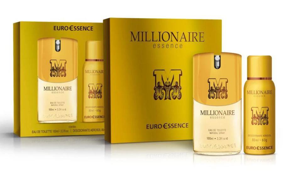 Kit Colônia + Desodorante Euroessence Millionaire Essence Eau de Toilette