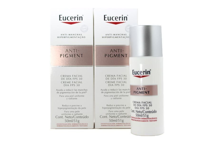 Kit com 2 caixas Eucerin Anti-Pigment Creme Facial Dia Fps 30 com 50 ml