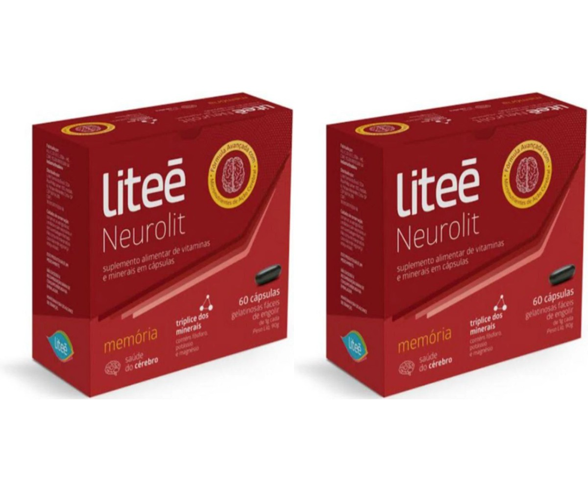 Kit com 2 Caixas Multivitamínico Para a Memória Litee Neurolit com 60 caps