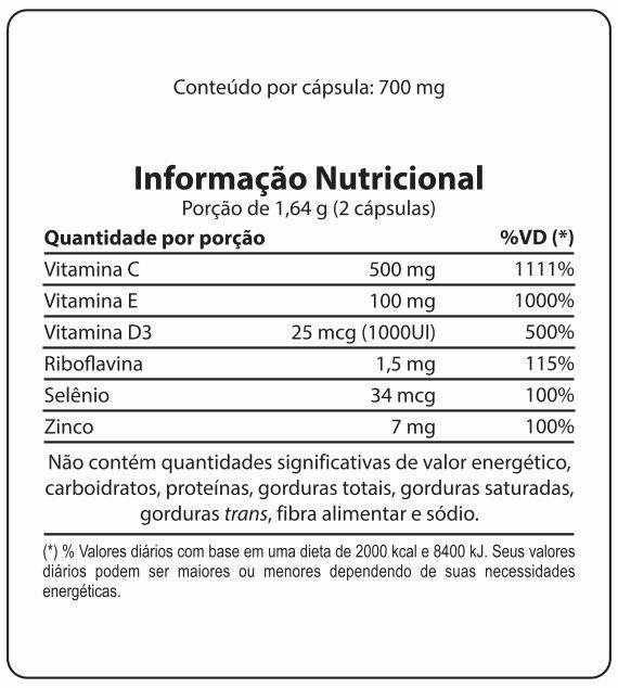 Kit com 2 Caixas Polivitamínico Para a Imunidade Unissy Imune Dermafine 60 cáps
