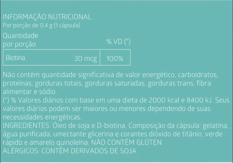 Kit com 2 Caixas Suplemento Alimentar de Biotina Litee com 60 cáps