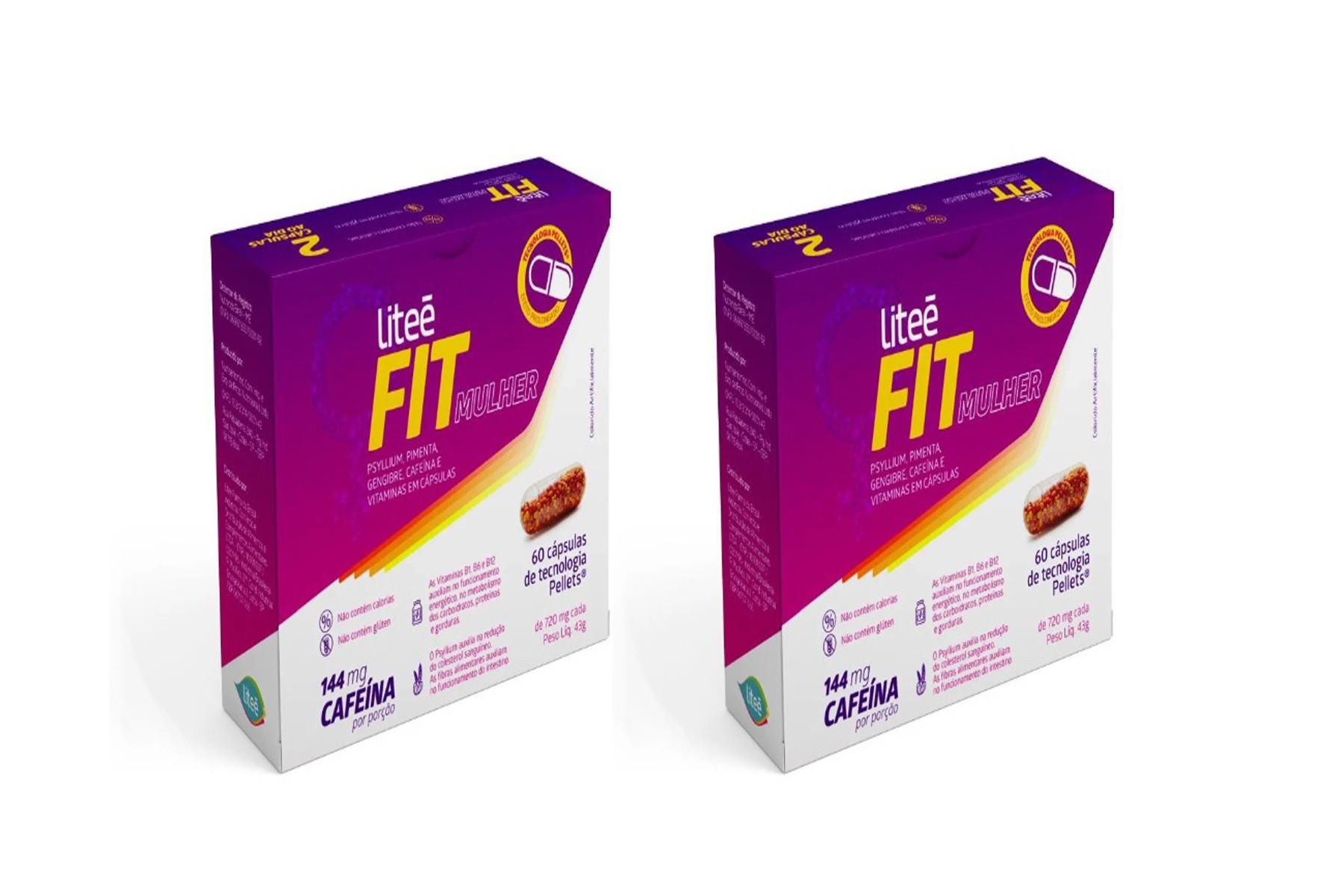 Kit com 2 Caixas Suplemento Alimentar de Cafeína LiteeFit Mulher