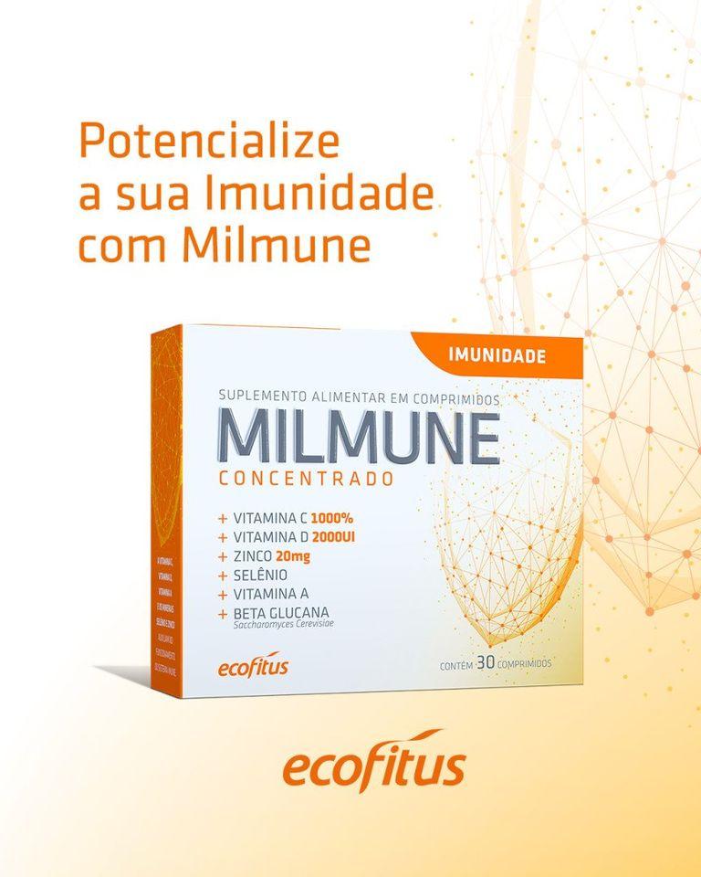 Kit Com 2 Caixas Suplemento Para Aumentar a Imunidade Milmune Concentrado