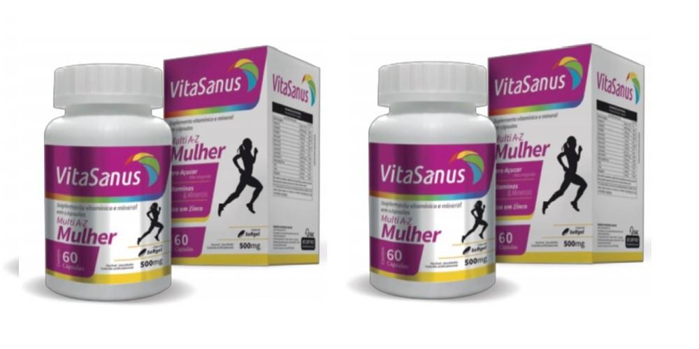 Kit com 2 Polivitamínico para Mulheres com 60 cápsulas cada pote