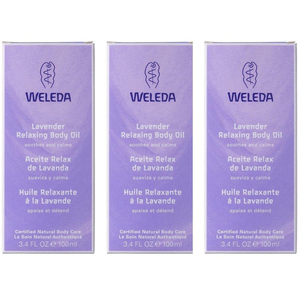 Kit com 3 caixas Óleo Relaxante de Lavanda Weleda