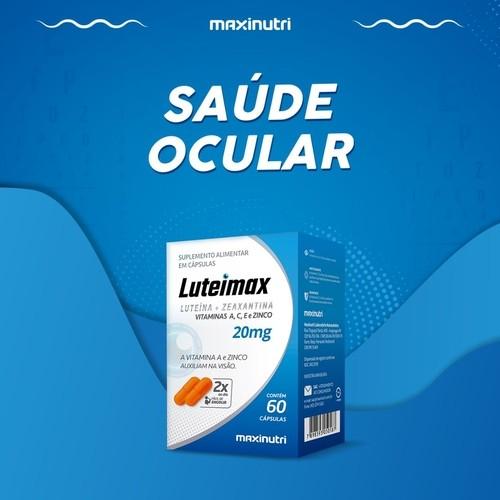 Kit com 3 Caixas Polivitamínico Para a Visão com Luteína e Zeaxantina Luteimax