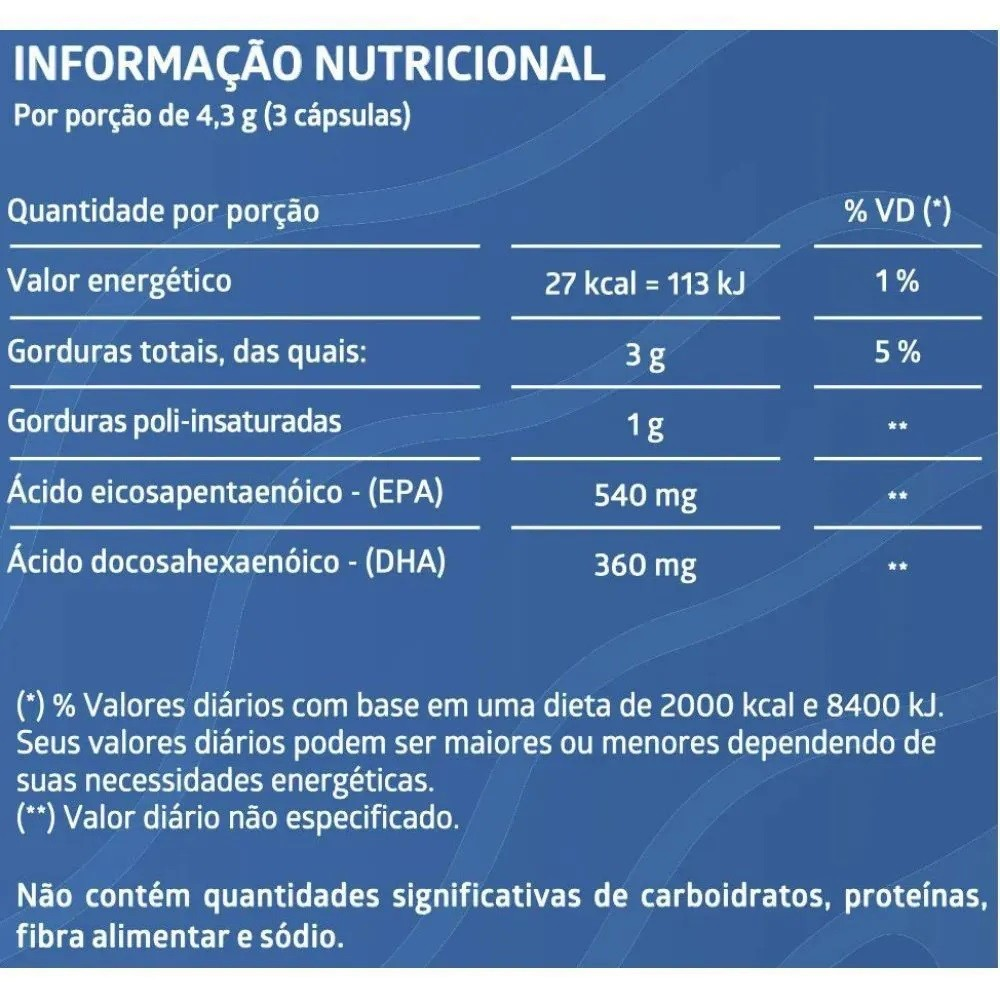 Kit com 3 Potes Suplemento Alimentar de Ômega 3 Liteé - 60 Cápsulas Cada