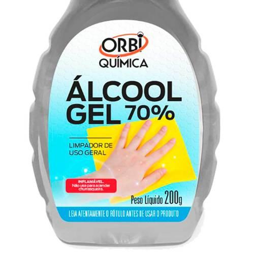 Kit com 5 Álcool Gel 70% com 200 gramas cada