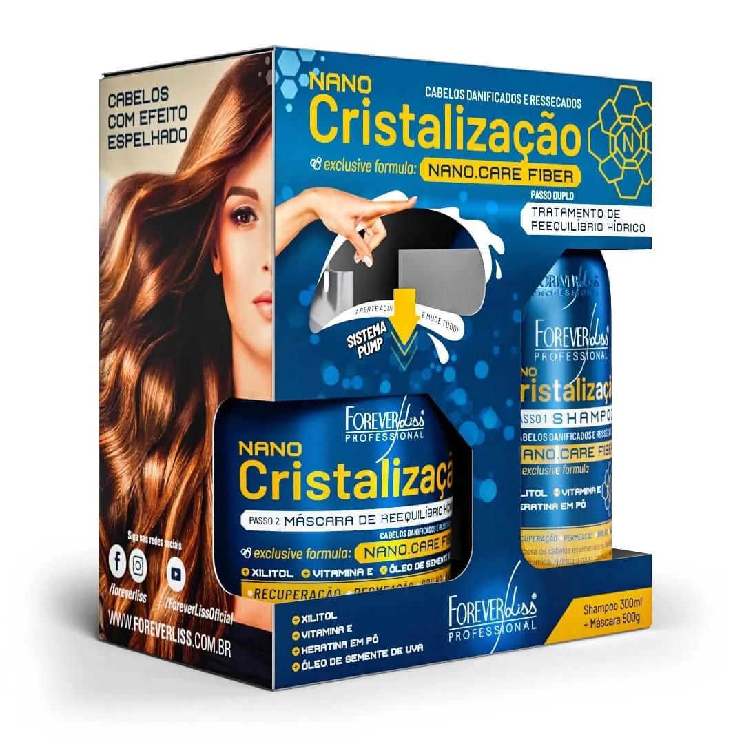 Kit de Cristalização Capilar Forever Liss Shampoo + Máscara
