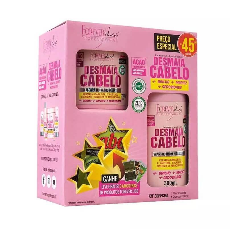 Kit Especial Desmaia Cabelo Forever Liss - Shampoo 300mL e Máscara 200g