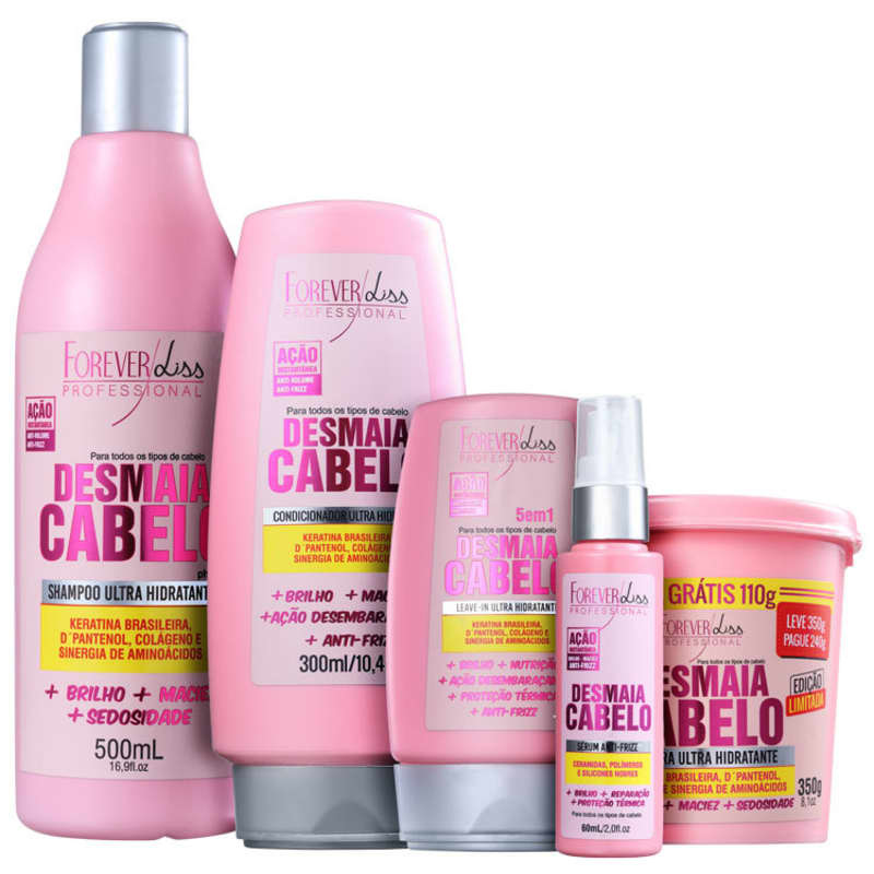 Kit Forever Liss Desmaia Cabelo - Tratamento Completo