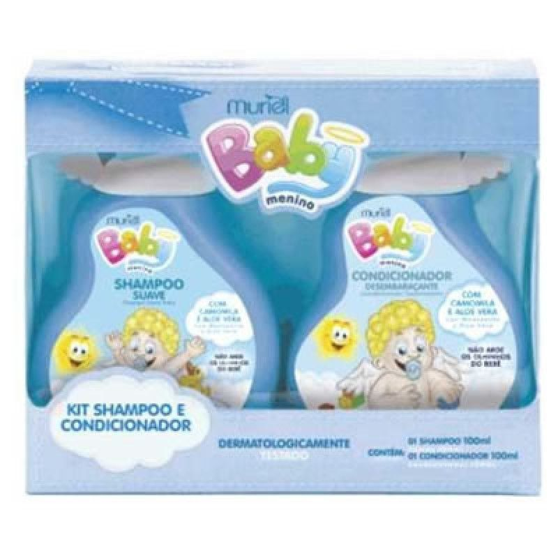 Kit Muriel Baby Menino Shampoo + Condicionador 100 ml