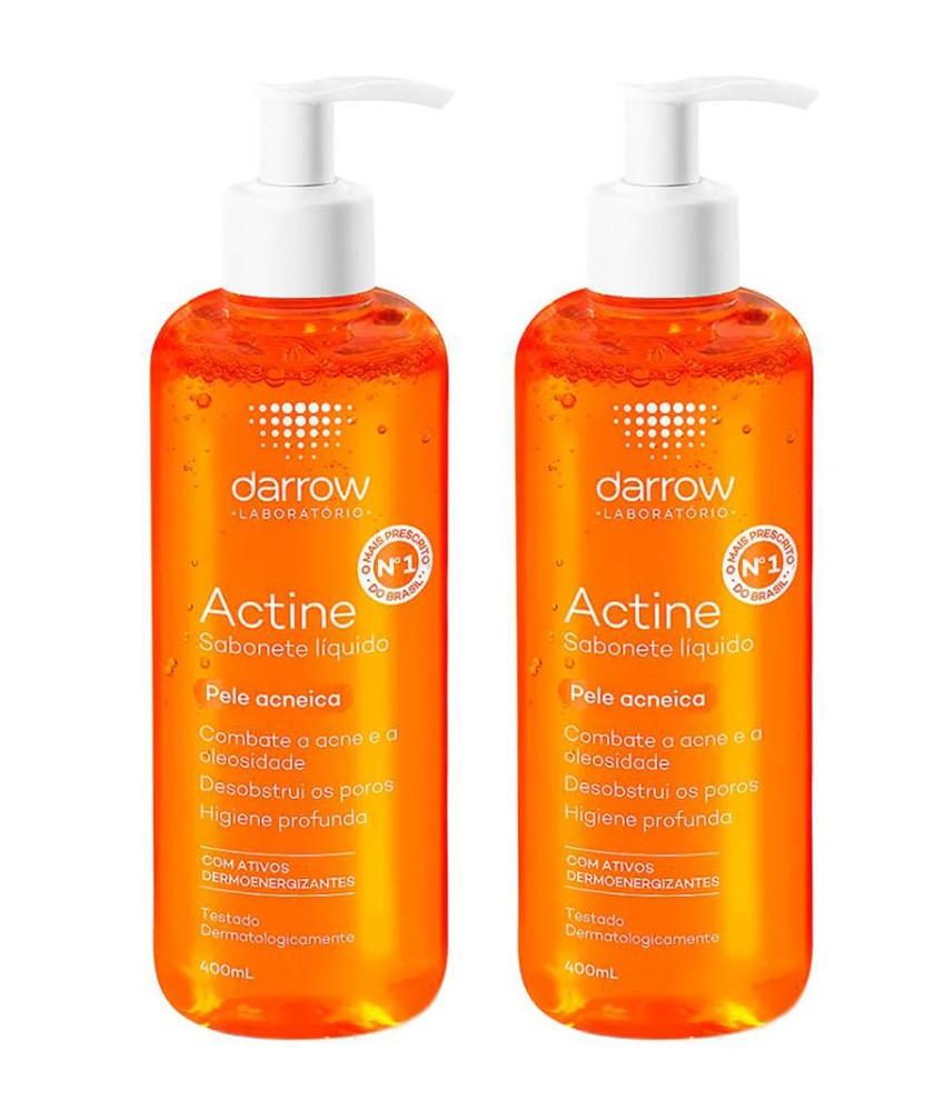 Kit Sabonete Líquido Antiacne Actine 400ml - 2 Unidades