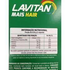 Lavitan Mais Hair Cabelos e Unhas com 60 Cápsulas