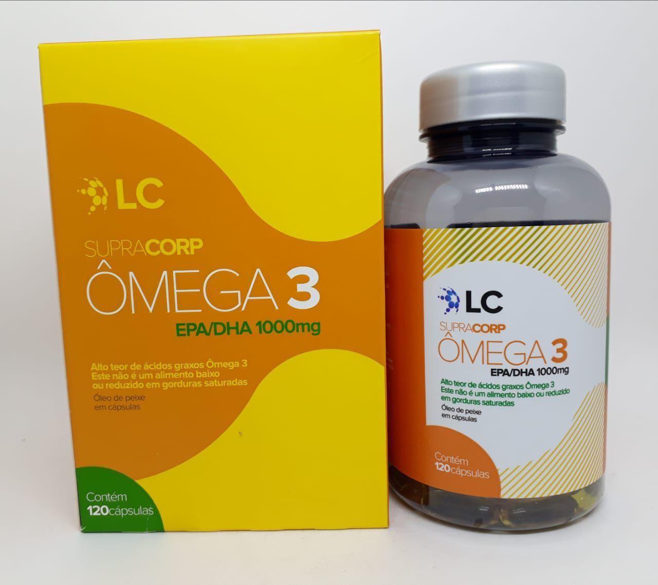 Lipocorp Ômega 3 1000 Mg com 120 Cápsulas