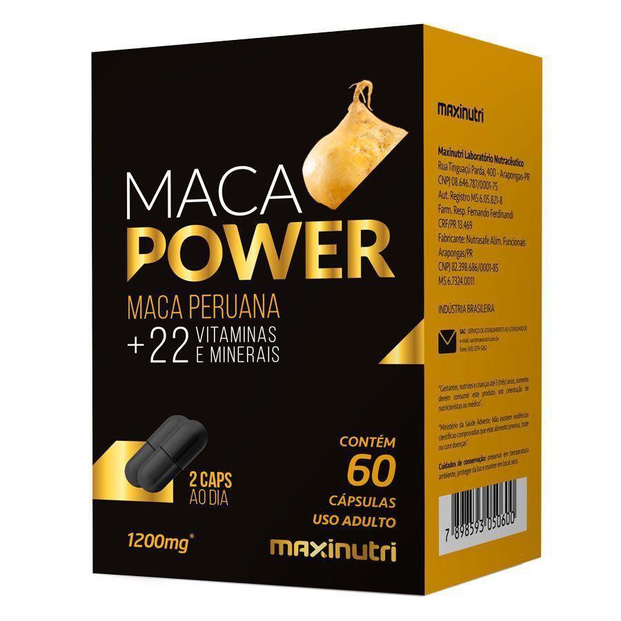 Maca Power 1200MG Maxinutri - 60 Cápsulas